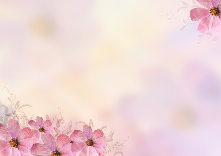 Beautiful pink flowers background blank space design for writing beautiful pink flowers background blank space design for writing tittle and wordings over blur background mightylinksfo