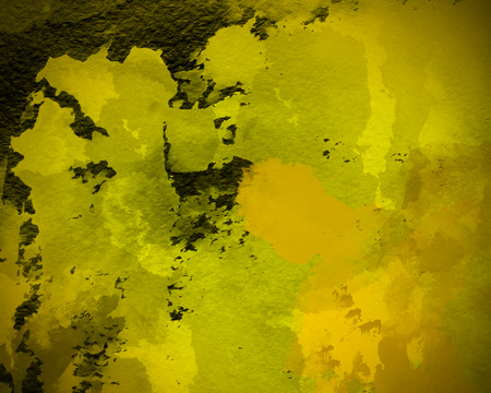 yellow graphic watercolor grunge background. Decoration, abstract, template wallpaper design. Idea of splash, calligraphy, vibrant color, pattern painting texture wallpaper Stock fotó