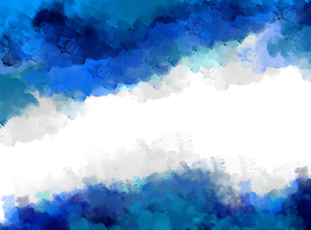 watercolor ink splash blue background. Template, design, graphic, wallpaper, blank, grunge, decoration, stain, backdrop