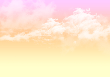 3d illustration of graphic clouds sky with pastel orange pink color. Idea of nature, scenery, heaven, fluffy, ozone, religion, natural, fantasy& imagination. Wallpaper design template background Stock fotó