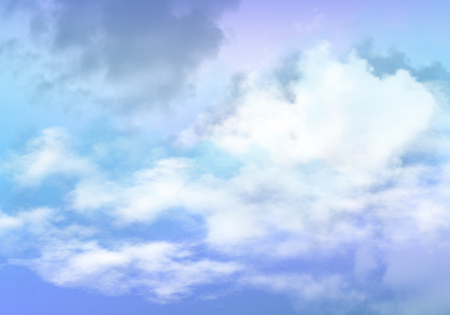 3d illustration of graphic clouds sky with pastel blue color. Idea of nature, scenery, heaven, fluffy, ozone, religion, natural, fantasy& imagination. Wallpaper design template background