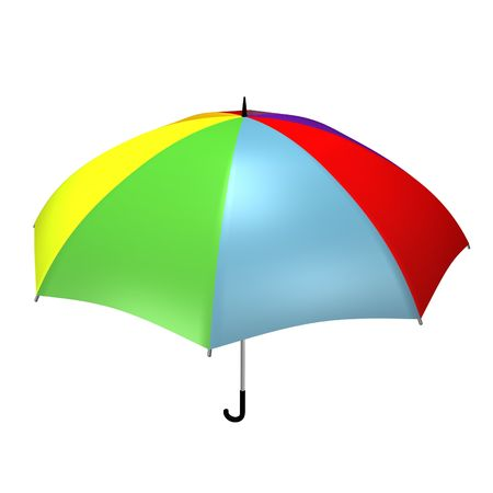 3d rendered color umbrella  photo