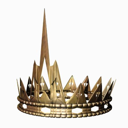 queens theatre: 3d rendered golden kings crown  Stock Photo