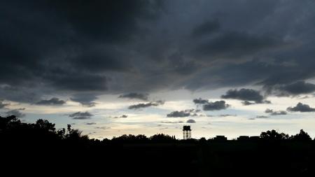 dark: Sky with dark cloud
