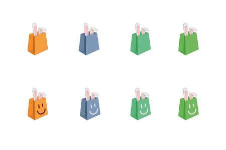 nice smile: bunny in bag Illustration