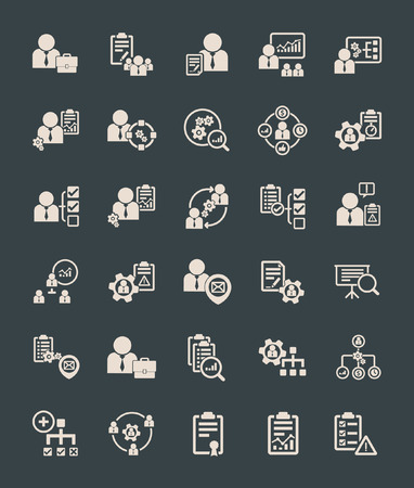 project manager: Human resource management icons