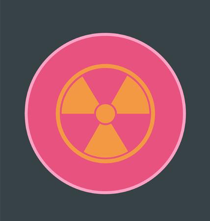 radiacion: plana icono de la radiaci�n redonda Vectores