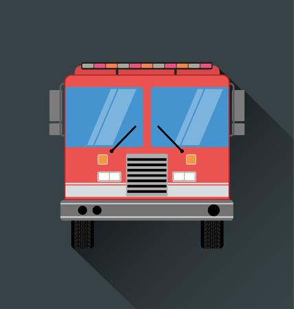 FIRE ENGINE: vue de face de firetruck