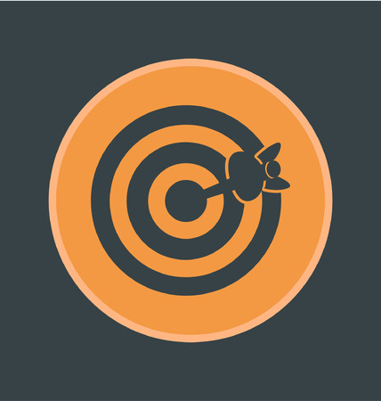 advantages: Vector illustration of accuracy icon, flat round icon