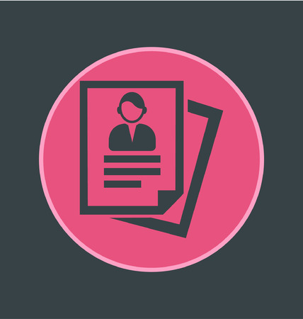census: Vector illustration of forms icon, flat round icon