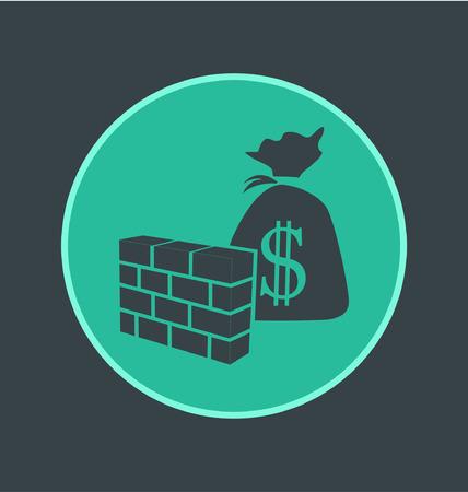 hidden fees: Vector illustration of no hidden fees icon, flat round icon