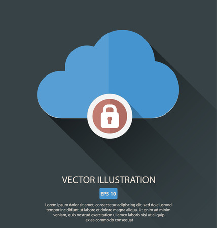 Vector illustration of cloud with different symbols icon Ilustrace