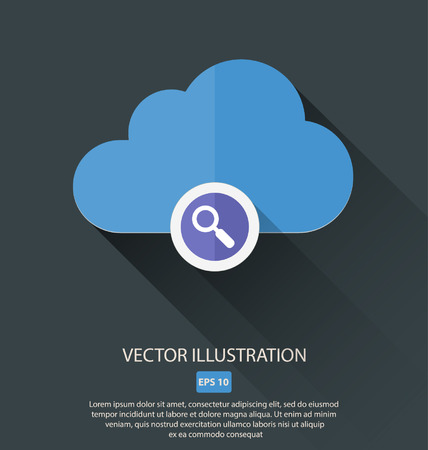 pre loader: Vector illustration of cloud with different symbols icon Illustration