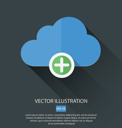 exclude: Vector illustration of cloud with different symbols icon Illustration