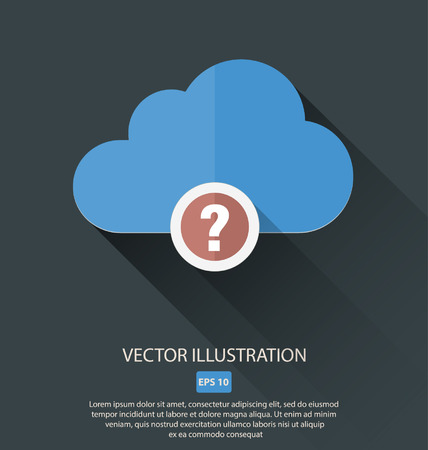Vector illustration of cloud with different symbols icon Illustration