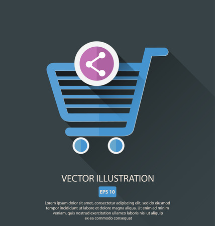 item: vector shopping cart icon item
