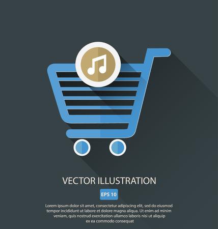 ショッピング カート アイコン項目をベクトルします。  イラスト・ベクター素材