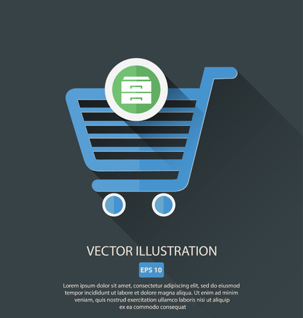 item: vector shopping cart icon item