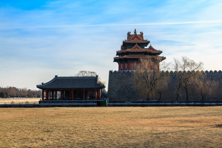 Beijing City, the Imperial Palace watchtower building landscape