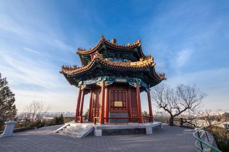Architectural landscape of Jingshan Hill Park in Beijing