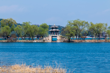 Architectural landscape of the Summer in Beijing Stok Fotoğraf