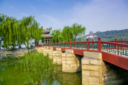 Architectural landscape of the Summer in Beijing Stock Photo