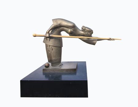 meta: Sports meta sculpture Editorial
