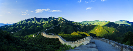 Architectural landscape of the Badaling Great Wall in Beijing Stock Photo