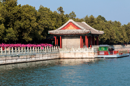 Architectural landscape of the Summer Palace in Beijing