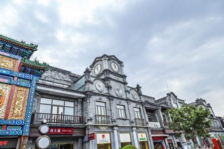 Architectural landscape of Qianmen Street in Beijing Editorial