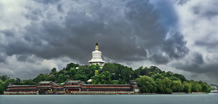 Architectural landscape of Beihai Park in Beijing Stock Photo