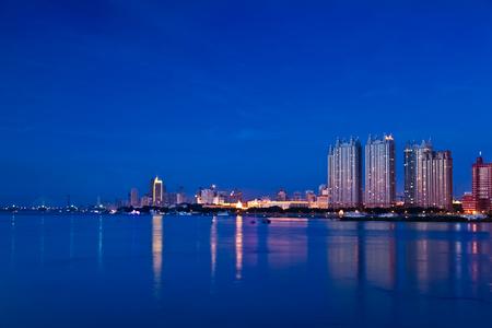 estate: The Bund architectural landscape of Songhua River, Harbin, Heilongjiang Stock Photo