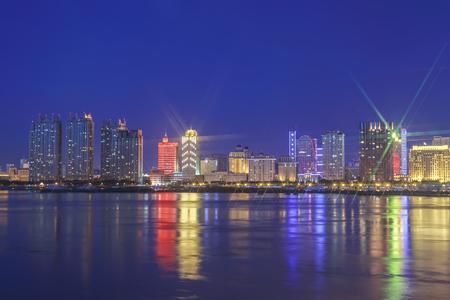 estate: The Bund architectural landscape of Songhua River, Harbin, Heilongjiang Editorial