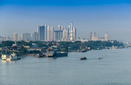 The Bund landscape of the Yangtze River in Jiangsu, Nanjing