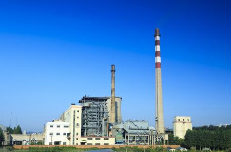Architektonische Landschaft der thermoelektrischen Industrie in Changchun, Jilin Editorial