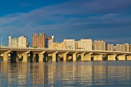 The Bund architectural landscape of Songhua River, Harbin, Heilongjiang Editorial