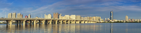 松花江、ハルビン, 黒竜江省の外灘の建築風景 写真素材