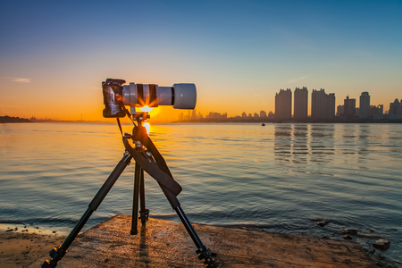 Songhua river photography equipment landscape