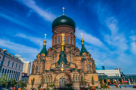 Building landscape of Sophia church in Harbin, heilongjiang province