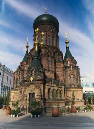 Building landscape of Sophia church in Harbin, heilongjiang province