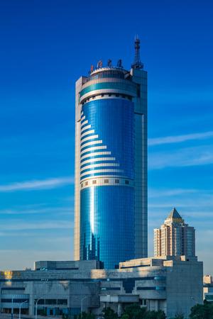 Urban architectural landscape in Harbin, heilongjiang province Editorial