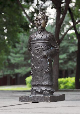 兵馬俑は、中国の風景を彫刻します。