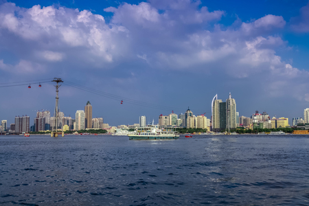 The Bund architectural landscape of Songhua River, Harbin, Heilongjiang Stock Photo
