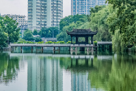 Landscape architecture of Baohe Park, Hefei City, Anhui Province