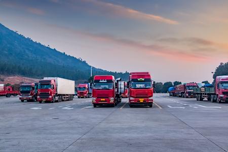 Freight parking environment landscape