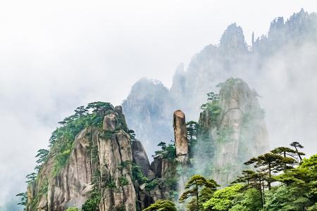 Paesaggio naturale del punto panoramico di Huangshan, città di Huangshan, provincia di Anhui Archivio Fotografico