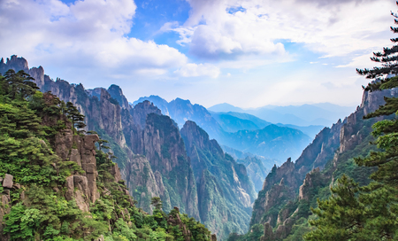 Natural Landscape of Huangshan Scenic Spot, Huangshan City, Anhui Province