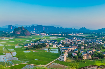 Rural landscape of Longhu Mountain, Yingtan City, Jiangxi Province