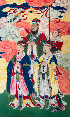 Jade Emperor Goddess figures like murals crafts landscape