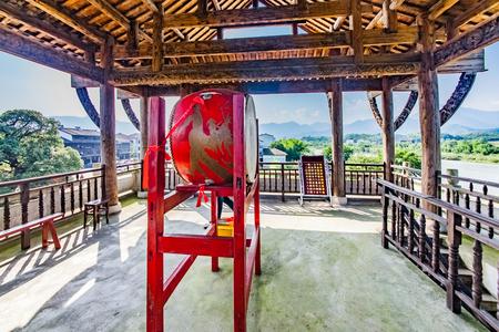 Drum Drum Musical Instrument Landscape of Zhonggulou, Shangqing Ancient Town, Longhu Mountain, Yingtan City, Jiangxi Province